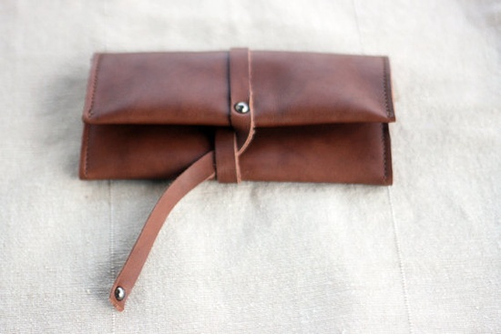 Cinnamon Challenge  Leather Tobacco Pouch by TheDrifterLeather, $30.00
