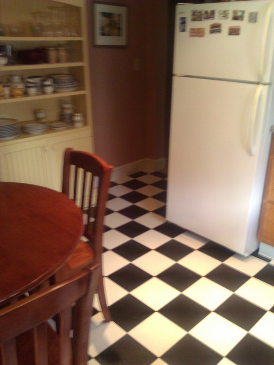 Our new kitchen floor! I love it!