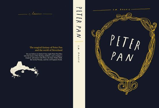 peter pan book cover by liam stevens