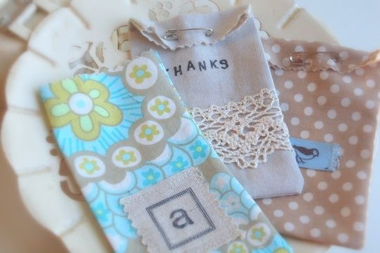 Handmade gift bags for little