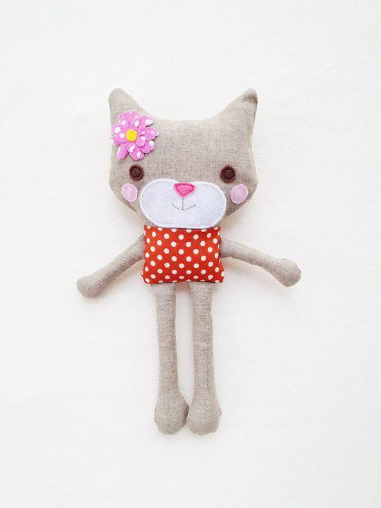 Cat Sewing Pattern  Mini Toy Plush Cat Pattern  by GandGPatterns, $8.00