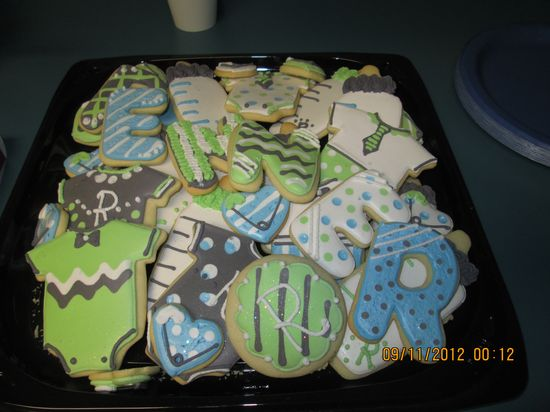 Baby Boy Cookie Tray