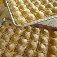 Fresh Handmade Ravioli with Spinach - Pancetta Filling by Maggie Mefford