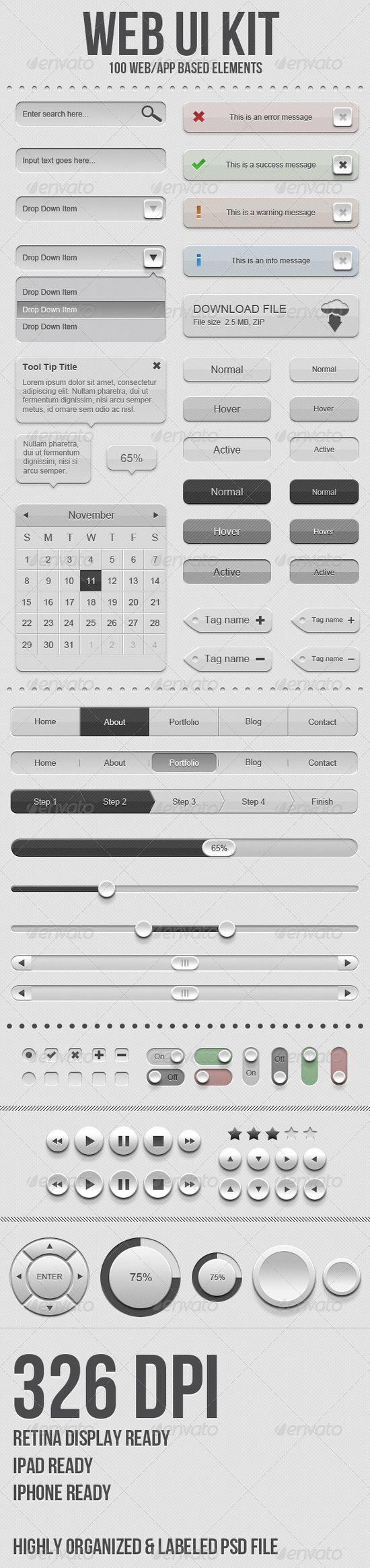 [ UI Kit ] Web UI Kit
