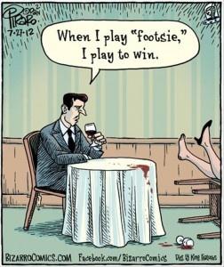 funny footsie, funny comics
