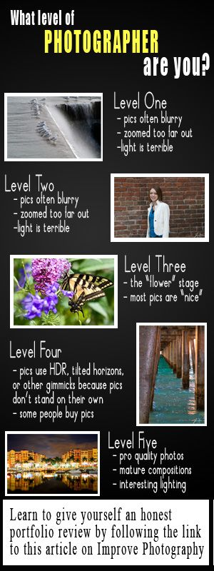 Awesome tips for how to take your photography to the next level.  I love ImprovePhotography.com!