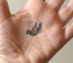 little bird tattoo, not on my hand though