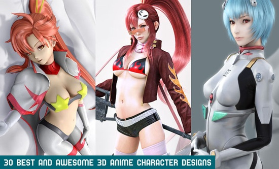 30 Best and Awesome 3D Anime Character designs for your inspiration. Follow us www.pinterest.com...
