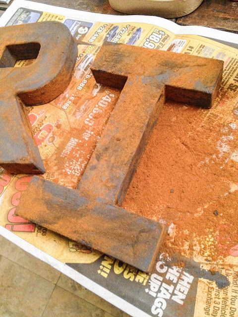 Create your own rust - an easy technique that just requires paint and cinnamon! by It's Just Me