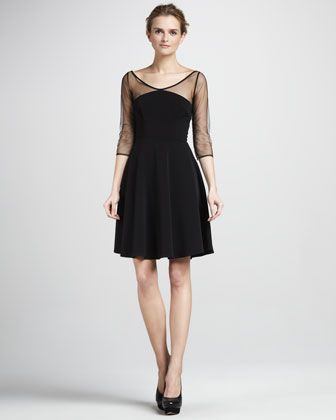 sheer sleeves LBD - an oh so chic bridesmaid option! Or, just, you know another LBD because you can never have too many!