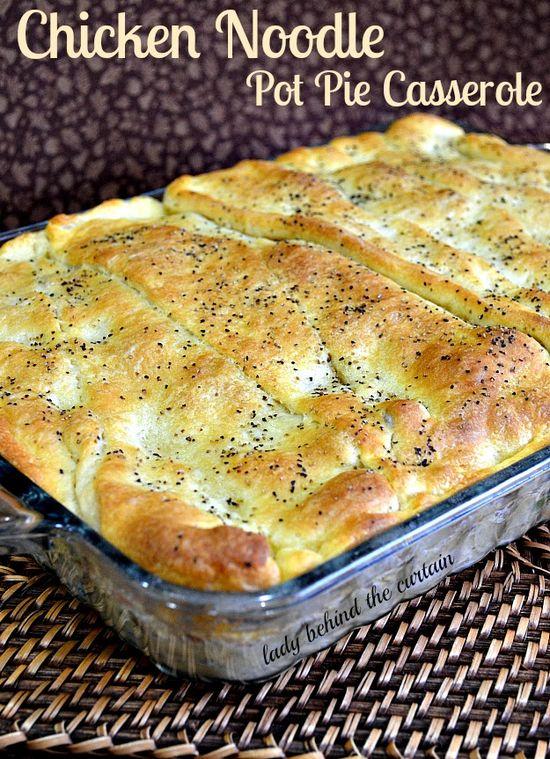 Chicken Noodle Pot Pie Casserole