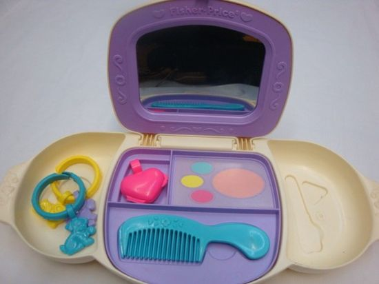 I put more 'makeup' on as a child then I ever do as an adult.  #toys #makeup #80s #kids