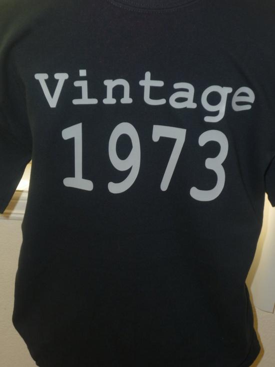 Vintage 73' 40th Birthday black adult shirt