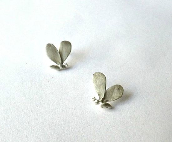 tiny silver bee earrings ?