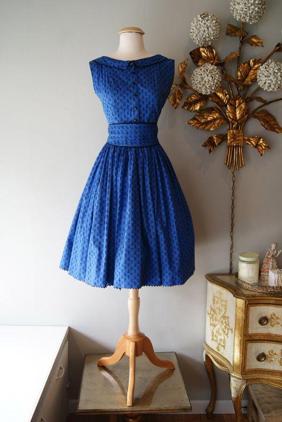 1950's Dress // Vintage 1950's Dress // Vintage by xtabayvintage, $148.00