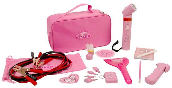 Pink Car Accessory Essentials Set