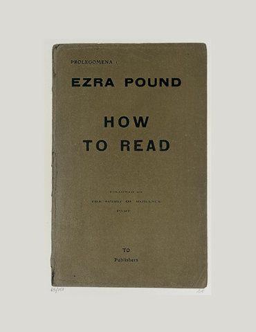 Ezra Pound - How To Read