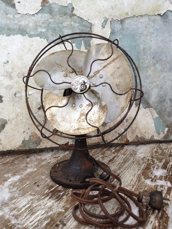 Vintage Fan/GE/Industrial Decor/Steampunk Decor/Masculine Decor/Minimalist/Simple. #athomewithSA