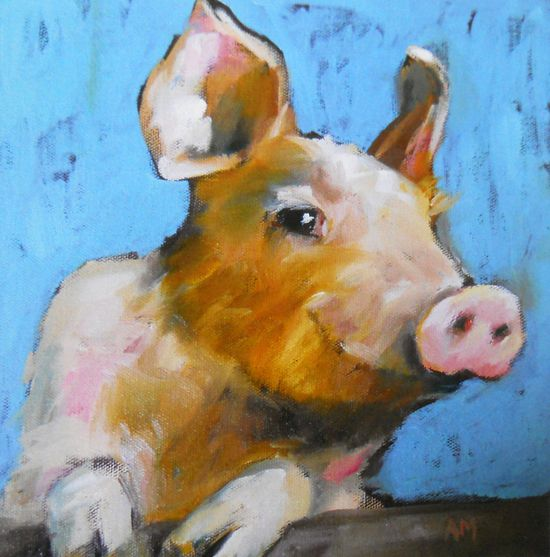 happy pig no 2 limited edition print by moulton 6 by prattcreekart