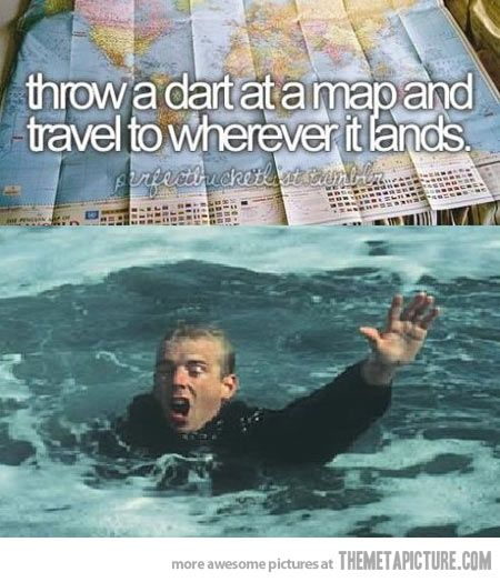 Travel to wherever it lands… lmfaaao