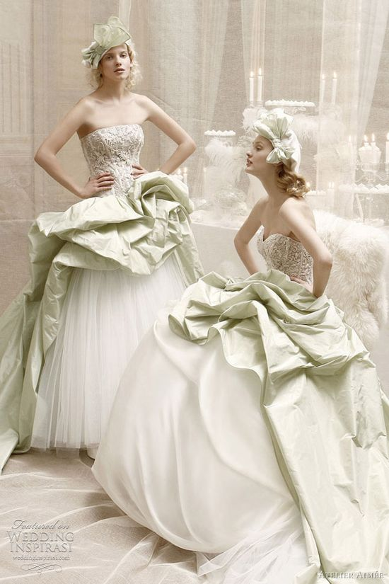 atelier aimee green wedding dresses
