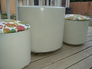 Planters turned Patio Furniture #Furniture #DIY
