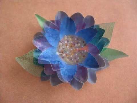 Handmade Paper Flowers Scrapbook Embellishments