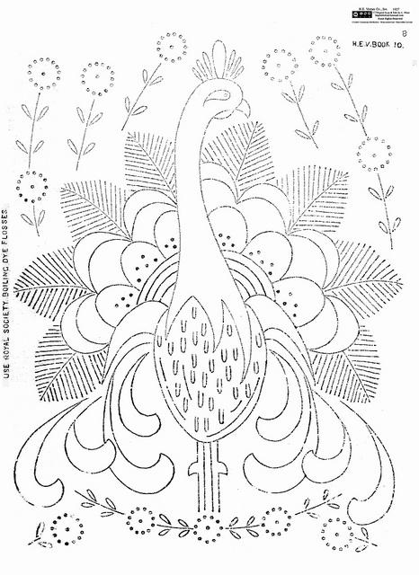 royal society #10 peacock