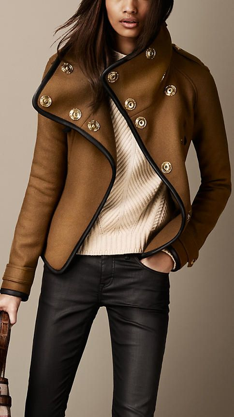 Leather Trim Blanket Wrap Jacket Sooooooooooo Meeeeeeeeeee!!!