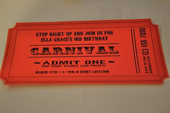 A Carnival Birthday Party