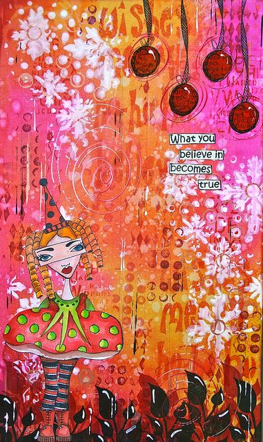 Art Journal - Christmas by thekathrynwheel, via Flickr
