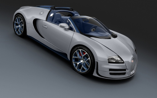 This is the fast French 1200-HP Bugatti Grand Sport Vitesse Rafale.