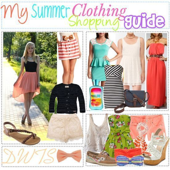 """""""My summer clothing shopping guide"""" by #fashion for summer #clothes summer #cute summer outfits #my summer"""