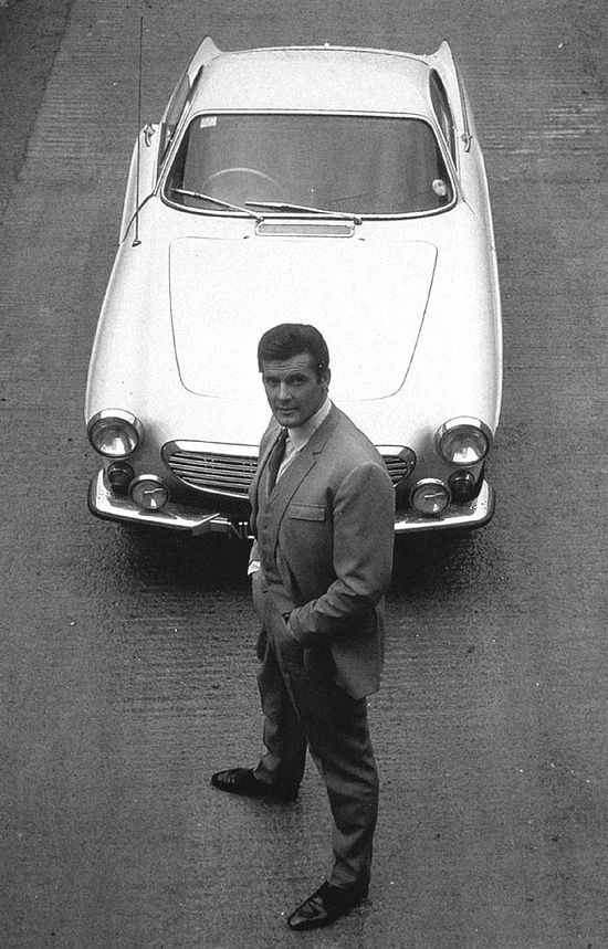Roger Moore and the Volvo #customized cars #luxury sports cars #celebritys sport cars #ferrari vs lamborghini