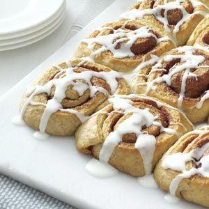 Multi-Grain Cinnamon Rolls Recipe from Taste of Home :: shared by Judy Eddy of Baldwin City, Kansas :: pinterest.com/...