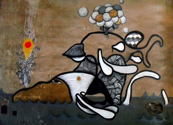 Mercado Novo - Belo Horizonte by T. Alvim - Melek. Graffiti feito durante o evento urubois.org/...