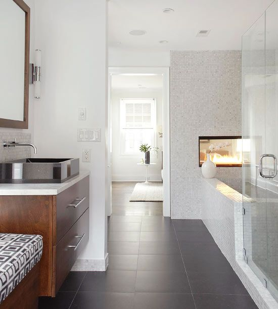 Ooooh...cool vanity and sink.