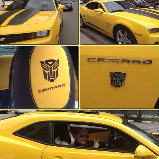 Awesome chevy camaro transformer edition!