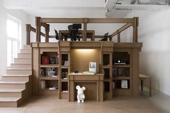 The Nothing Office made from cardboard!!!