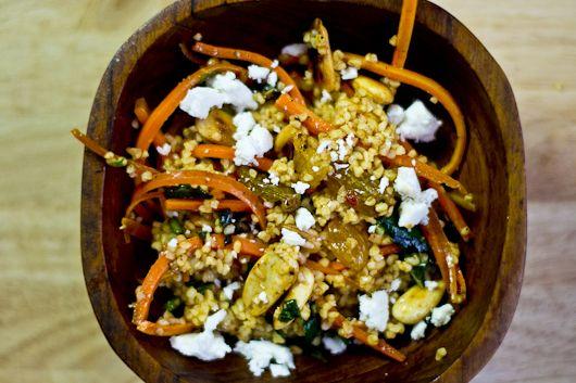 Bulgar Wheat, Harissa Carrot and Feta Salad