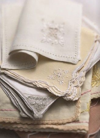antique linen napkins...