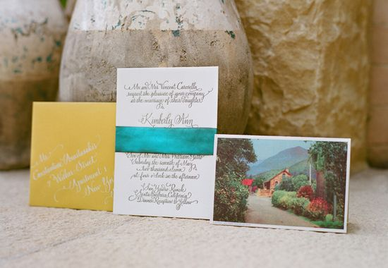 Invitations // Aaron Delesie Photographer // San Ysidro Ranch // Planning: Lisa Vorce at Oh, How Charming!