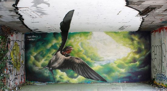 Anamorphic Graffiti by TSF Crew