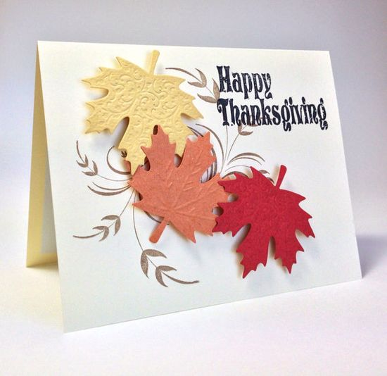 Handmade Happy Thanksgiving Greeting Card by Paper Eggspressions