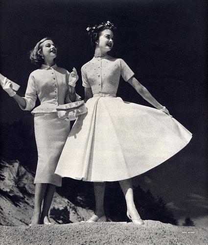 dress duo 1950s