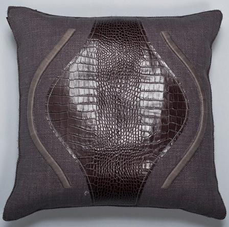 Leather Panel Pillow #Ankasa
