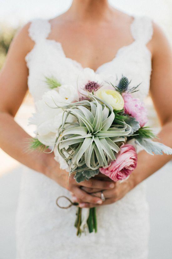 floral + succulent bouquet // photo by Sweet Little Photographs