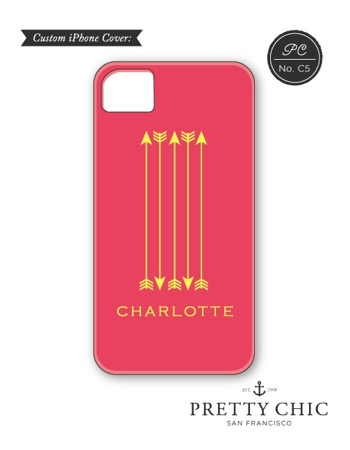 Arrow iPhone Case  Personalized iPhone Cover with by prettychicsf, $42.00