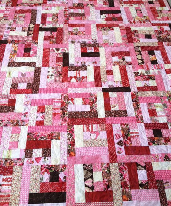 Handmade Quilt  Faded Romance  Valentine's Day by quiltyninja, $175.00