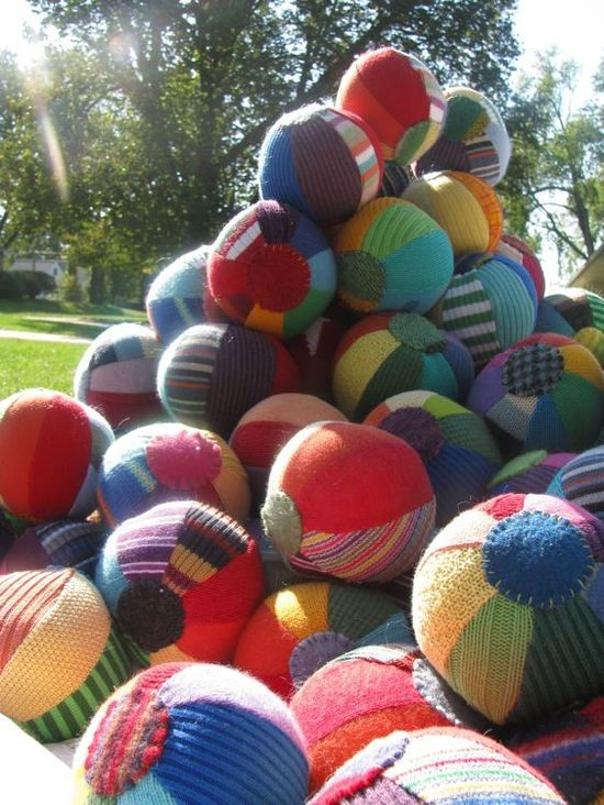 sweater balls!  #DIY